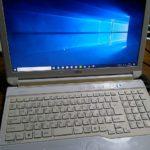 中古でパソコン(FUJITSU LIFEBOOK AH56/H)を買いました