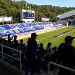 サッカーの試合を見に行ってきました